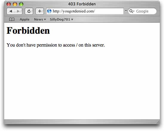 403 forbidden http error